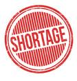 shortage grunge rubber stamp vector image vector image