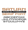 square serif font in computer style vector image vector image