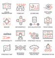 Strategy Management System icons -1 vector image vector image