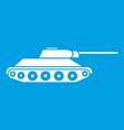 tank icon white vector image vector image