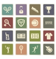 Tennis simply icons vector image vector image