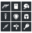 The evolution of weapons icons set vector image vector image
