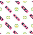 top view colorful car toys seamless pattern vector image vector image