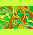 variegated abstract lines art pattern rainbow vector image vector image