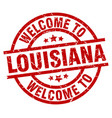 welcome to louisiana red stamp vector image vector image