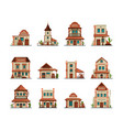 western constructions old wild west town store vector image vector image
