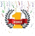 Winner number one background vector image vector image