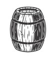 wooden barrel with craft beer bar menu vector image vector image