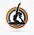 yoga class a woman practice yoga vector image vector image