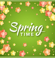 spring time banner background with paper flowers vector image