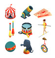 funny circus in cartoon style lion vector image