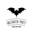 Halloween Party Invitation The Silhouette Of A Bat vector image