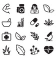 herb icons vector image