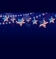 4th july usa independence day banner vector image vector image