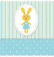 background with rabbit boy vector image vector image