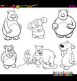 bear characters coloring page vector image vector image