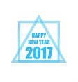 Beautiful greeting card with the new 2017 in blue vector image vector image