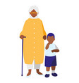 black grandmother with grandson vector image vector image