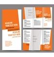 Brochure design template trifold