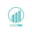 business trend - logo concept vector image vector image