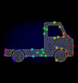 carcass mesh delivery car chassi with vector image vector image