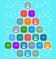christmas advent calendar multi-colored windows vector image vector image