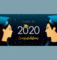class 2020 congratulations students vector image vector image