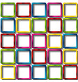 colorful glossy squares abstract background vector image vector image