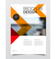 Corporate business document template vector image vector image