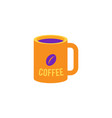 cup of coffee - mug with hot invigorating drink vector image