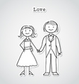 Cute cartoon couple vector image vector image