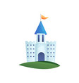 cute colorful fairy castle with blue roand vector image vector image