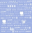Cute doodles background vector image vector image