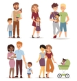 Different family vector image vector image