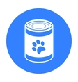 Dog food icon in black style for web vector image vector image