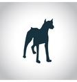 Dog simple icon vector image vector image
