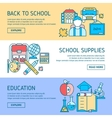 Education Horizontal Linear Banners vector image vector image