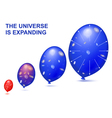 expanding universe vector image vector image