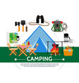 Flat camping template