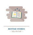 flat sleep icon vector image vector image
