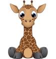 Funny little giraffe vector image vector image