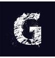 Grunge letter G vector image vector image