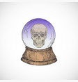 hand drawn colorful halloween fortune teller vector image vector image
