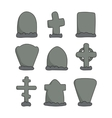 hand drawn headstones vector image