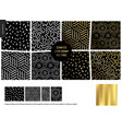 hand drawn patterns - black vector image vector image