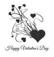 Happy valentines day Explode of black heart vector image vector image