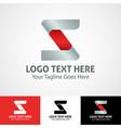 hi-tech trendy initial icon logo z vector image vector image