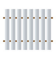 icon of construction fence vector image