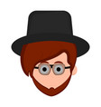 isolated hipster avatar with glasses vector image