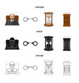 isolated object of law and lawyer symbol set of vector image vector image
